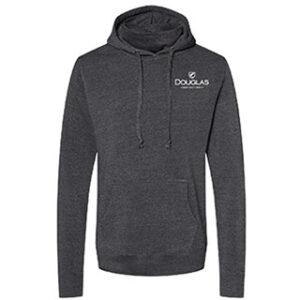 Douglas Outdoors Gaiter Hooded Sweatshirt Gray Front 300x300