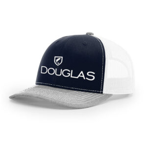 Douglas Outdoors High Crown Tri Color Navy White Heather Gray 300x300