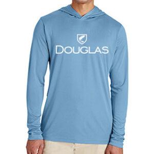 Douglas Outdoors Sport Performance Hoodie Blue Front 300x300
