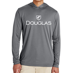 Douglas Outdoors Sport Performance Hoodie Gray Front 300x300
