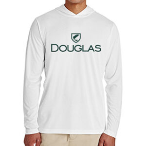 Douglas Outdoors Sport Performance Hoodie White Front 300x300