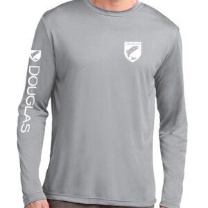 Douglas Outdoors Sport Performance Long Sleeve Gray Front 300x300