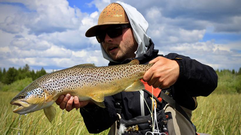 Spring Creek Fishing Under The Big Sky